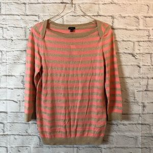 TALBOTS Striped Sweater Long Sleeve Top